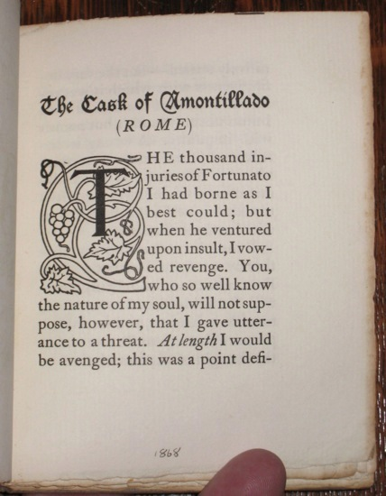 foreshadowing irony and symbolism in the cask of amontillado by edgar allan poe An analysis of edgar allen poe's 'the cask of amontillado' what is the symbolism of the word amontillado the story of mr edgar allan poe was so great—the.